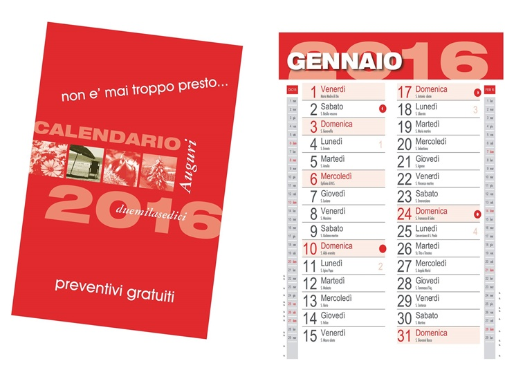 Leggi news | PRONTI PER I #CALENDARI2016